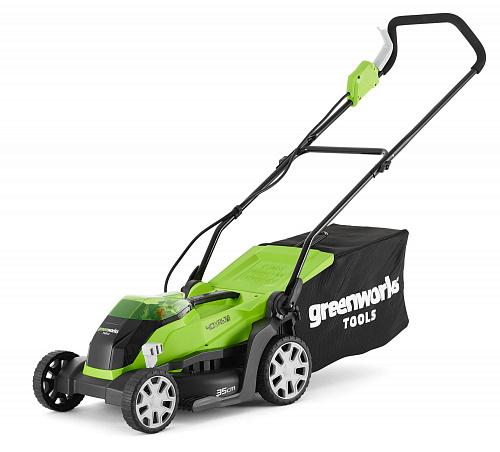 Газонокосилка аккумуляторная GreenWorks G40LM35K4