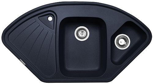 Кухонная мойка Zigmund & Shtain ECKIG 1000.2 черный базальт