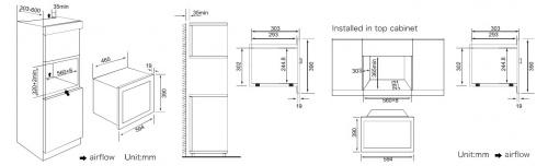 Встраиваемая микроволновая печь Weissgauff HMT-206 фото 5