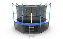 Батут Evo Jump Internal 12ft Blue Lowernet + сетка